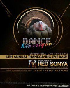 thanksgiving eve bar dynamite red sonya gig