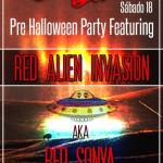 Eurobar Pre Halloween Party featuring Red Alien Invasion